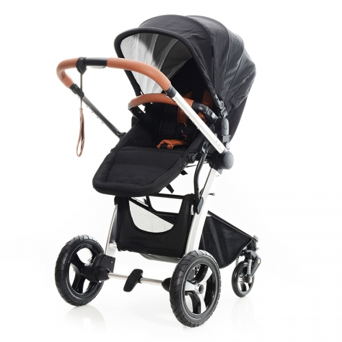 BP Airmotion schwarz mit Cabriofix Earth brown
